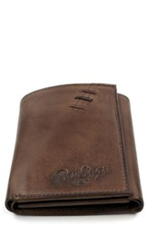 Rawlings Sports Accessories Men's Legacy Leather Wallet Brown