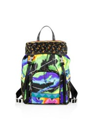 Prada Tessuto Patch Nylon Backpack Multicolor