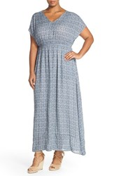 Plus Size Women's Lucky Brand Paisley V Neck Maxi Dress