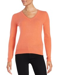 Lord And Taylor Basic V Neck Cashmere Sweater Camellia