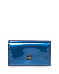 Akris Anouck Mini Chain Envelope Clutch Bag Pacific Metallic