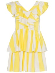 Paper London St Lucia Striped Dress Yellow