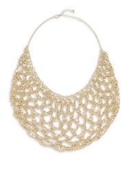 Jamierocks Hand Made Crochet Bib Necklace Gold