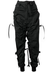 Dsquared2 Buckle And Strap Detail Track Pants Black