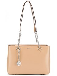 Dkny Logo Shoulder Bag Neutrals
