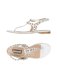 Pinko Footwear Thong Sandals Women White