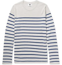 Nn.07 Nn07 Striped Merino Wool Sweater White