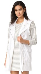 Free People Long Moto Vest White