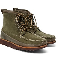 Bass Weejuns Ranger Moc Ii Suede And Nubuck Leather Boots