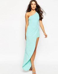 Asos One Shoulder Occasion Maxi Romper Mint