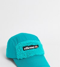 Ellesse Buglio 5 Panel Sherpa Cap In Green Exclusive To Asos