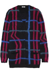 Kenzo Checked Knitted Cardigan Black