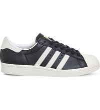 Adidas Superstar 80S Leather Trainers Black White Pony