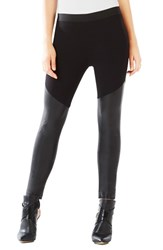 Women's Bcbgmaxazria 'Francisco' Ponte And Faux Leather Leggings