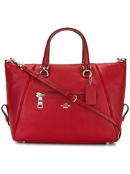 Coach Removable Strap Tote Red