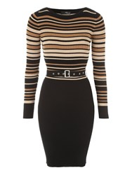 Jane Norman Multicoloured Belted Jumper Dress Multi Coloured