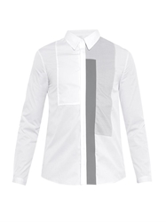 Richard Nicoll Contrast Panel Striped Cotton Shirt