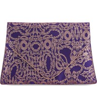 Dries Van Noten Jacquard Fold Clutch Purple Jac