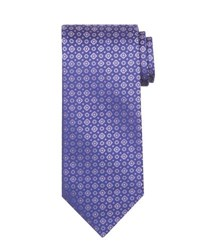 Stefano Ricci Tonal Circle And Square Silk Tie Lavender