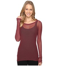 Hard Tail Long Sleeve Tee Smokey Rose Women's T Shirt Brown