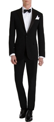 Ralph Lauren Black Label Silk Peaked Lapel 'Anthony' Tuxedo Black