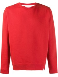 Norse Projects Classic Fitted Sweatshirt Red