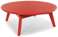 Loll Designs Satellite Round Cocktail Table Apple Red
