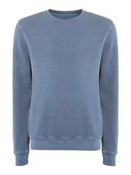 Label Lab Men's Joe Garment Dyed Crew Neck Sweat Denim