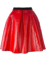 Marc Jacobs Pleather Circle Skirt Red