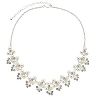 John Lewis Pretty Flower Collar Necklace Pearl