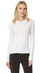 Giambattista Valli Long Sleeve Sweater White