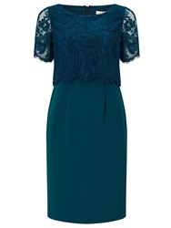 Jacques Vert Petite Lace Layered Dress Blue