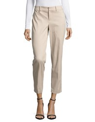 Lord And Taylor Kelly Ankle Stretch Pants Beige