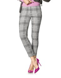 Hue Plaid Leggings Grey