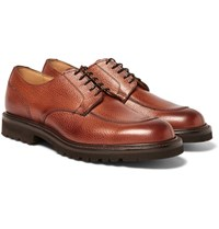 Cheaney Chiswick Pebble Grain Leather Derby Shoes Brown