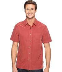 Royal Robbins Desert Pucker S S Dark Paprika Men's Short Sleeve Button Up Orange