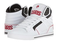 Osiris Clone White Red Black Men's Skate Shoes