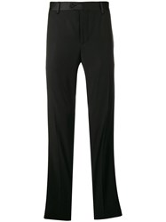 Billionaire Side Stripe Tailored Trousers Black