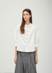 Zucca Cotton Typewriter Blouse White