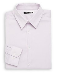 Theory Dover Point Collar Dress Shirt Light Purple