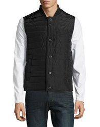 Black Brown Sleeveless Puffer Vest Black
