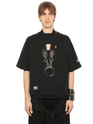Ktz Cut Out Short Sleeve Cotton Sweatshirt