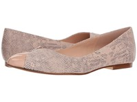 French Sole Zigzag Nude Snake Print Shoes Tan