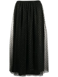 Red Valentino Point D'esprit Pleated Skirt 60