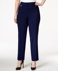 Nine West Plus Size Straight Leg Pants