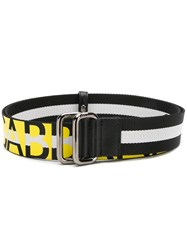 Dolce And Gabbana Logo Band Belt Black