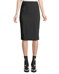 Dolce And Gabbana Classic Suiting Knee Length Pencil Skirt Black