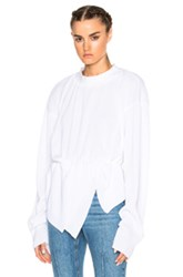 Off White Small Pleats Sweater In White