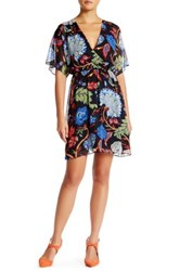 Alice Olivia Cay Batwing Cross Front Dress Multi