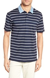Ag Jeans Men's The Farrell Stripe Jersey Polo